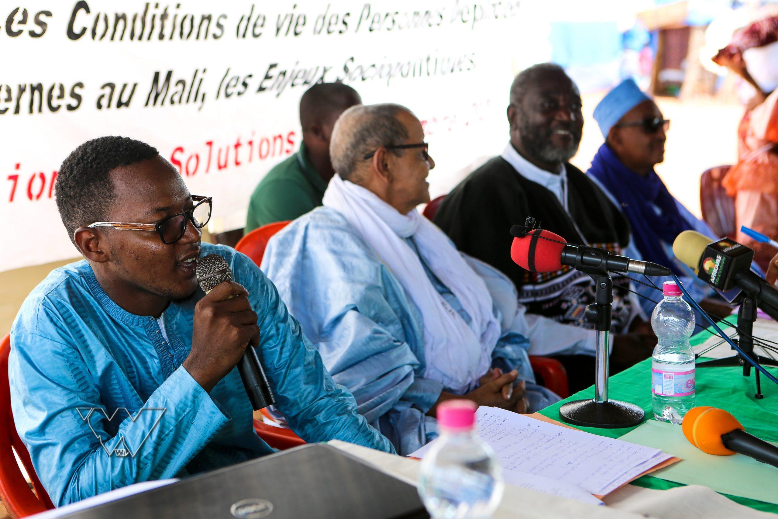 Conférence de presse sur le camp des déplacés de Senou