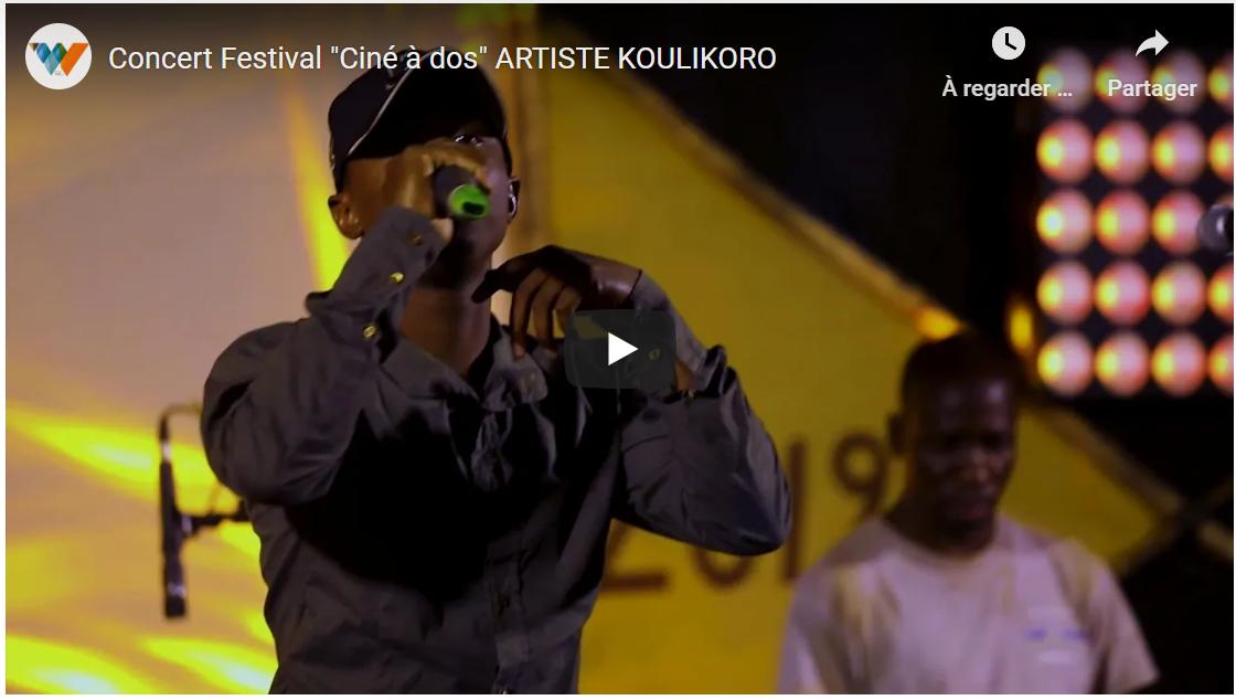 "Concert ARTISTE KOULIKORO Festival ""Ciné à dos"" 2019"